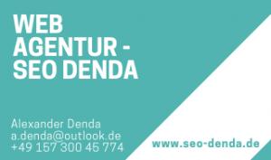 Web Agentur SEO DENDA - Visitenkarte