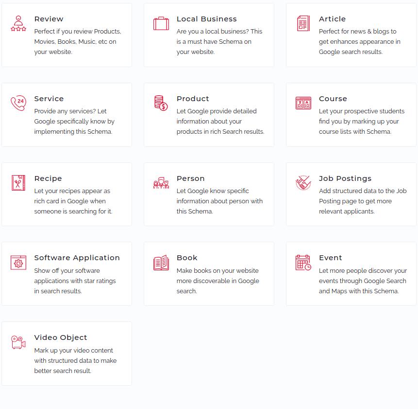 schema.org beispiele in der übersicht