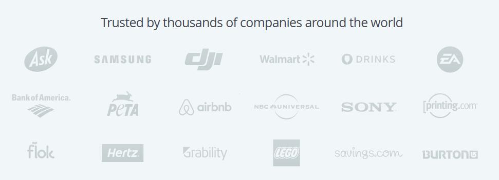 TinyPNG wird u.a. von diesen Unternehmen genutzt