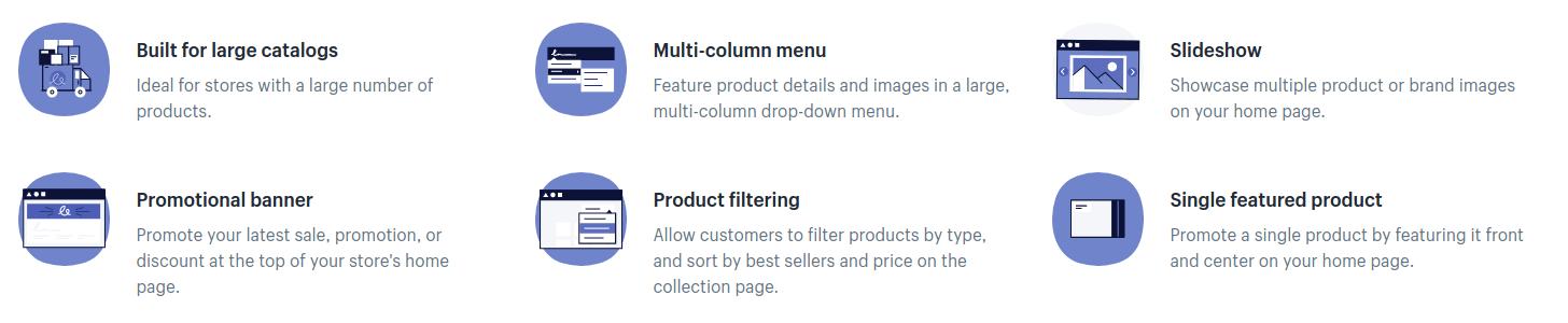 Vorteile von Shopifys Venture Theme