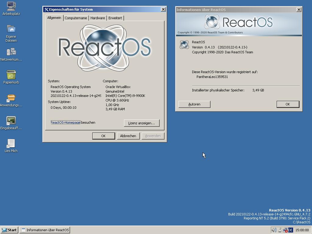 ReactOS - Infos, Links, Einschätzung 1